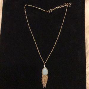 Mint Gold Tassle Necklace